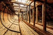 The interior of an old merchant ship, the East Indiaman