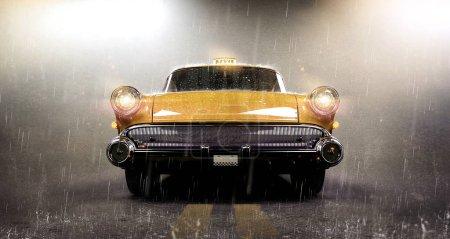 Photo pour Vieille voiture rétro, illustration 3d - image libre de droit