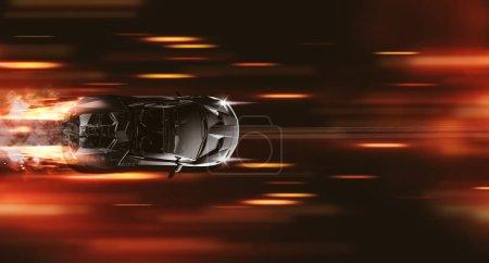 Photo pour Voiture de luxe rapide, illustration 3D - image libre de droit