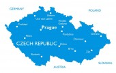 Vector map of Czech republic | Outline detailed map with city names