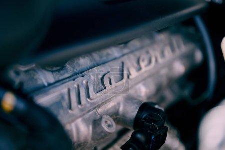 Warsaw Poland05302018 Detail of engine