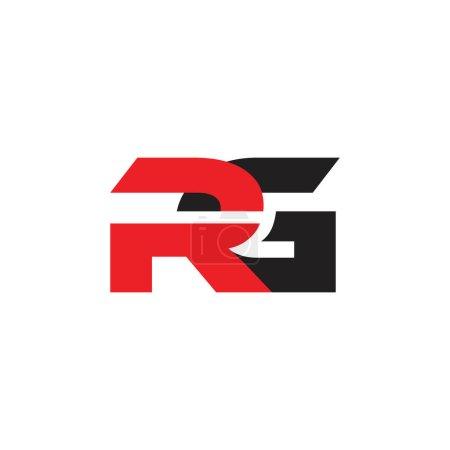 letras rg simple vinculado geométrico colorido logotipo