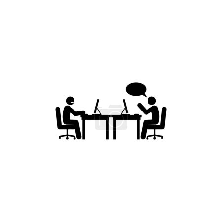 unpleasant conversation icon. Element of colleagues icon for mobile concept and web apps. Detailed unpleasant conversation icon can be used for web and mobile vector stock illustation