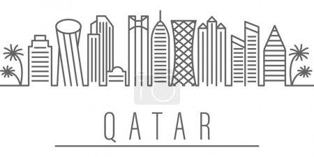 Qatar city outline icon Elements