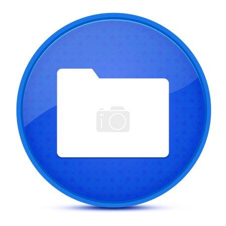 ästhetisch glänzend blauer runder Knopf abstrakte Illustration
