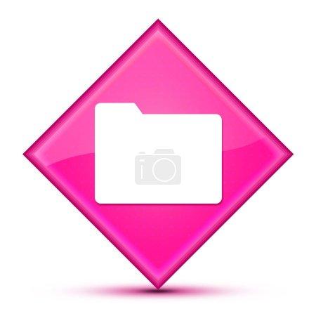 Ordner-Symbol isoliert auf luxuriösen rosa Diamant-Taste abstrakte Illustration
