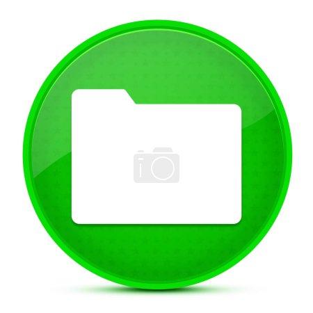Ordner ästhetische glänzend grüne runde Taste abstrakte Illustration