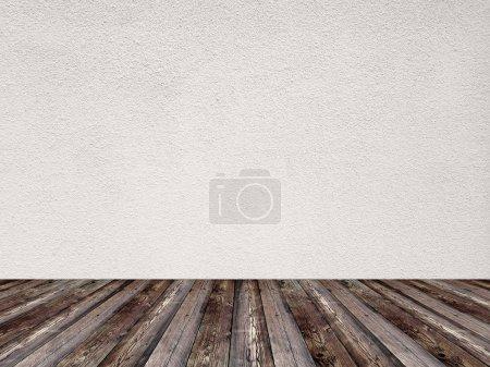 Photo pour Chambre vide de couleur blanche unie - image libre de droit