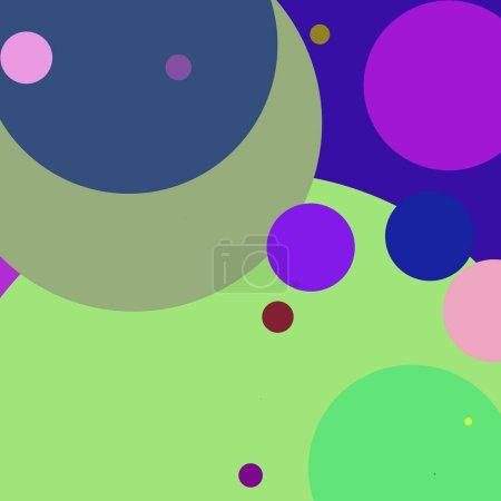 Photo pour Cercle géométrique élégant fond abstrait motif multicolore . - image libre de droit