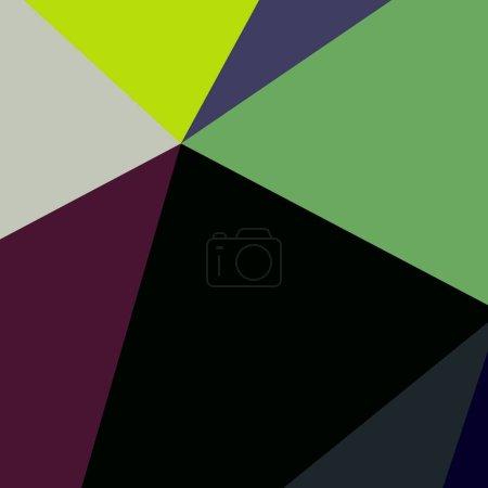 Photo pour Fond abstrait multicolore géométrique poligonal . - image libre de droit