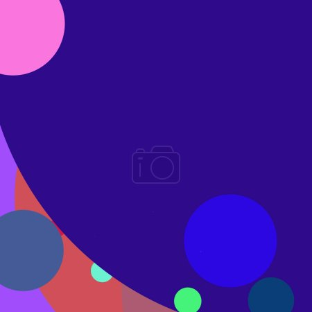 Circle geometric great abstract background multico...