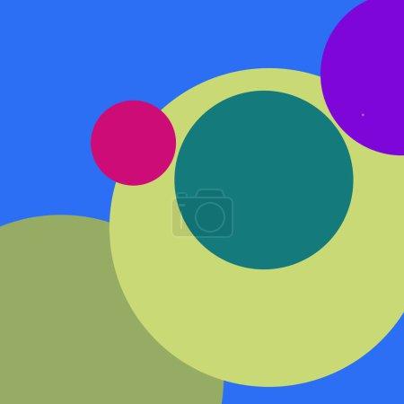 Photo pour Motif multicolore Circle géométrique abstrait beau. - image libre de droit