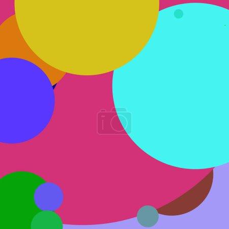 Photo pour Cercle géométrique grand fond abstrait motif multicolore . - image libre de droit