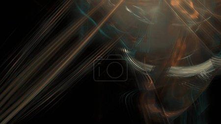 Foto de Fantasía caótica patrón fractal colorido. Formas fractales abstractas. Fondo de ilustración de representación 3D o fondo de pantalla . - Imagen libre de derechos