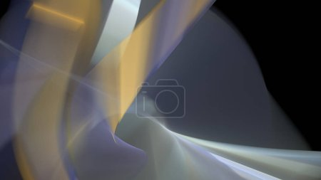 Photo for Fantasy chaotic colorful fractal pattern. Abstract fractal shapes. 3D rendering illustration background or wallpaper. - Royalty Free Image