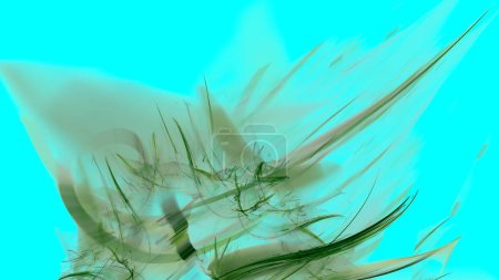 Fantasy chaotic colorful fractal pattern. Abstract fractal shapes. 3D rendering illustration background or wallpaper
