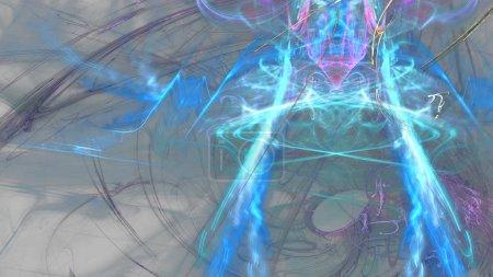 Fantaisie chaotique motif fractal coloré. Formes fractales abstraites. rendu 3D fond d'illustration ou fond d'écran