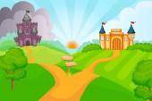 Evil and good fairytale castles