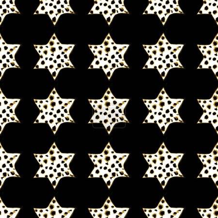 Foto de Patrón de estrellas acuarela transparente. Magic fondo festivo. Dibujado a mano Doodle estrellas. Diseño del bebé. Relación abstracta para el papel pintado, textil, ropa, envolver, carteles, tarjetas, Banner. Año nuevo, cumpleaños - Imagen libre de derechos