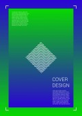 Futuristic Vector Geometric Cover Design with Gradient and Abstract Lines and Figures for your Business Template Design with Hologram Gradient Effect for Electronic Festival