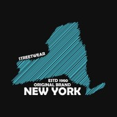 New York typography graphics for t-shirt