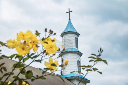 Dalcahue Church Chiloe Island Chile