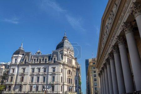 Photo pour Buenos Aires City Hall - Palacio Municipal de la Ciudad de Buenos Aires and Metropolitan Cathedral - Buenos Aires, Argentina - image libre de droit
