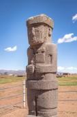 Monolith Statue of Tiwanaku (Tiahuanaco) culture - La Paz Bolivia