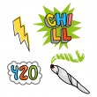 Good young set icon with elements for chill relax ...