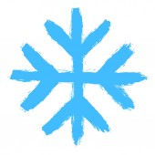 Snowflake 05 from set 05 Drawing of a snow flake painted by hand bold brushstroke Quick and easy sketching or technique imitating children's drawing Design graphic element vector illustration EPS