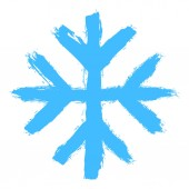 Snowflake 07 from set 05 Drawing of a snow flake painted by hand bold brushstroke Quick and easy sketching or technique imitating children's drawing Design graphic element vector illustration EPS
