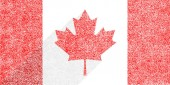 Canadian flag The Maple Leaf in flat long shadow style To create this image used paint texture This design graphic element is saved as a vector illustration in the EPS file format