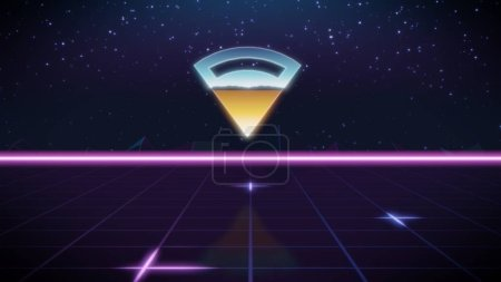 synthwave retro design icon of