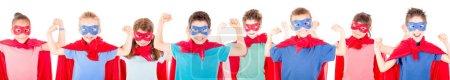 little children pretending to be a superheroes