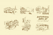 Saint Petersburg  Sketches SetHand Drawn Streets and  Cityscape