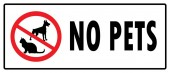 No pets symbolDon't allowed pets board in white background drawing by illustrationNo Dogs sign and No Cats sign