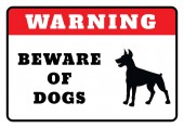 Warning Board- Beware of dogs Sign drawing by illustration