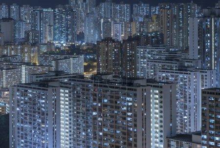 Foto de Lleno de edificios residenciales en la ciudad de Hong Kong, China - Imagen libre de derechos