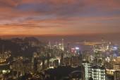 """Постер, картина, фотообои """"Закат над Hong Kong Сити"""""""