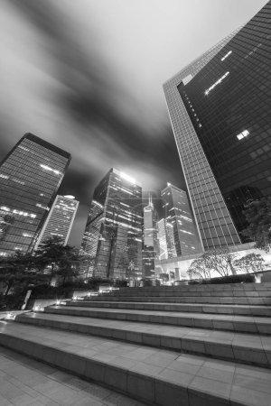 Photo for Midtown of Hong Kong city at night - Royalty Free Image