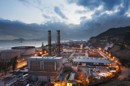 Photo for Power station at dusk - Royalty Free Image