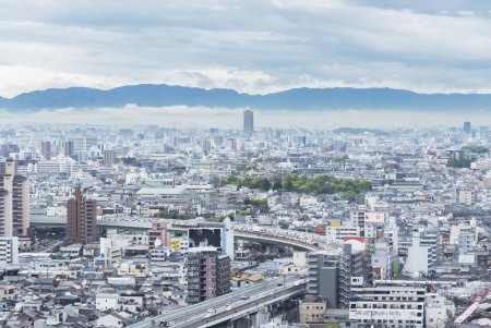 Photo for Skyline of Osaka city, Japan - Royalty Free Image
