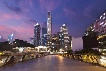 Photo for Midtown of Hong Kong ciity at dusk - Royalty Free Image