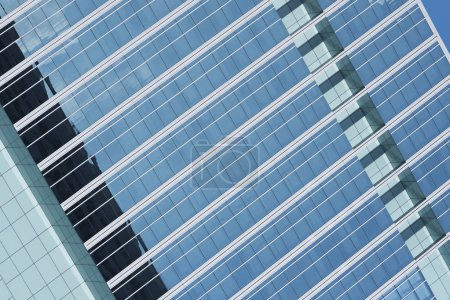 Photo for Exterior of modern office building. Architecture abstract background - Royalty Free Image