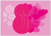 8 march Women's Day card - vector