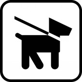 Dogs on leash area icon Keep your pet on a leash