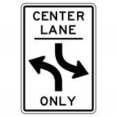 Centre turning lane sign in vector format
