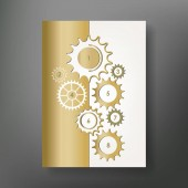 Book brochure design template Vector flyer layout blur background with elements for magazine cover poster design