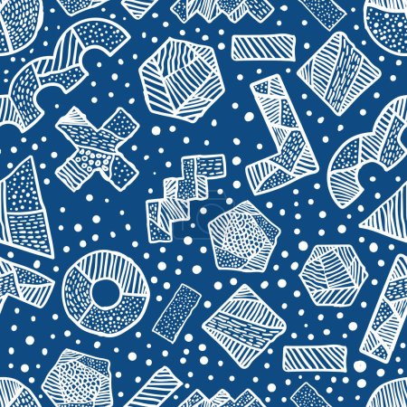 Abstract scribble Hand drawn scrawl sketch Chaos doodle seamless pattern