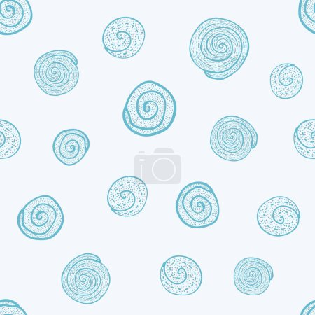 Photo pour Abstrait gribouiller dessiné à la main gribouillage croquis Chaos doodle motif sans couture - image libre de droit